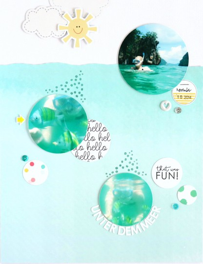 Unter dem meer scrapbooking layout 1 original