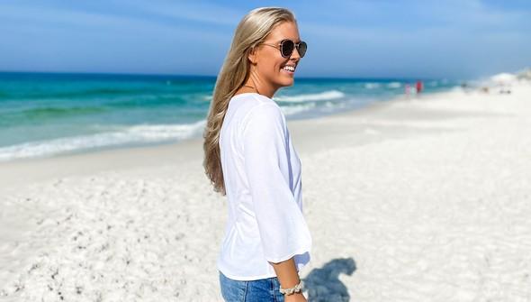 152480 beach love by callie danielle v neck bell sleeve women white slider5 original