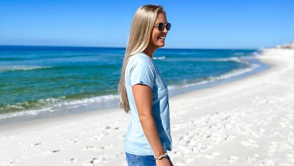 137678 keep our beach happy v neck tee women sky slider4 original