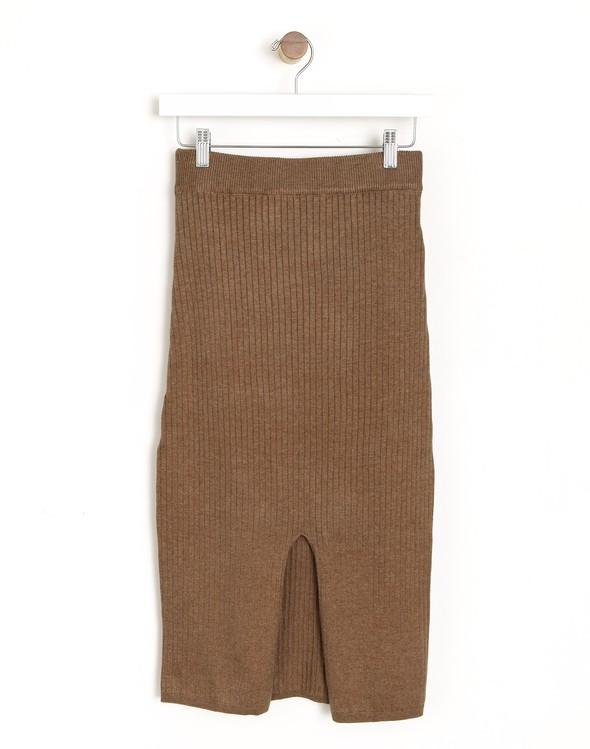 178776 knitmidiskirtcamel original
