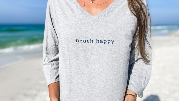 152443 simple beach happyv neck bell sleeve women ash slider2 original