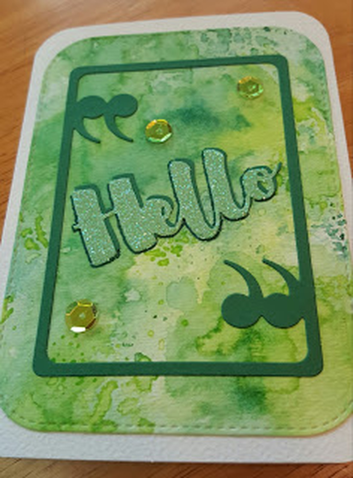Hello card original