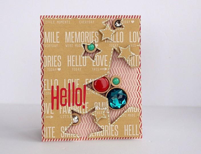 Hello! card by sarah webb