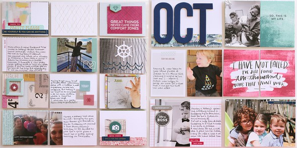Oct double page spread by natalie elphinstone original