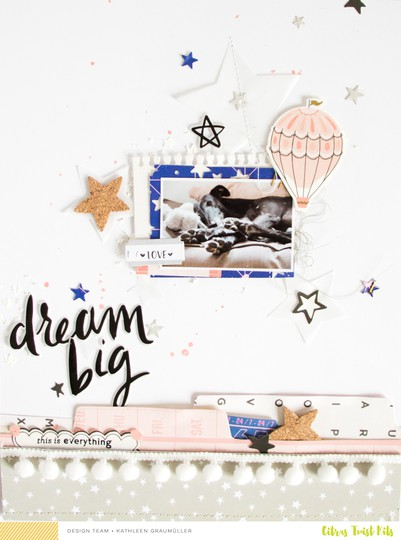 Dreambig scatteredconfetti scrapbooking layout cratepaper citrustwistkits sugarland 1 original