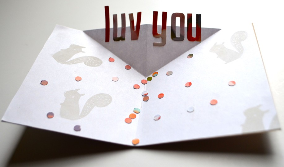 Luv you pop up card original