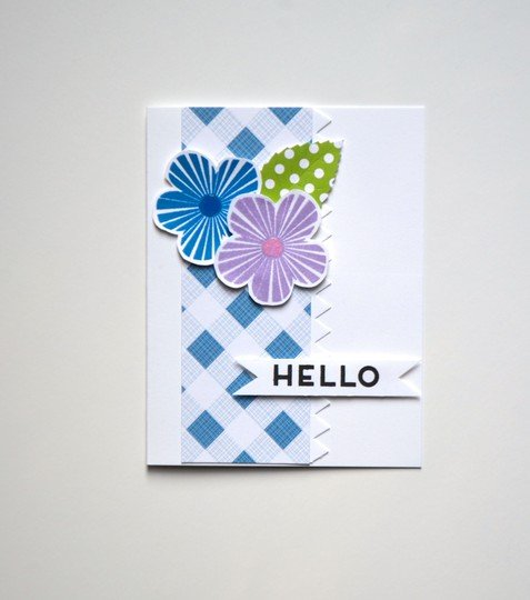 Simple floral hello card original