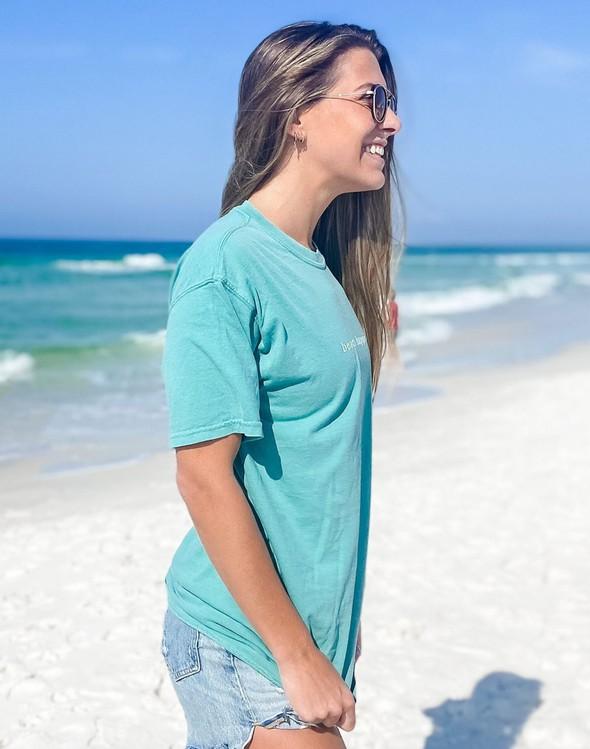 154075 simple beach happy comfort colors short sleeve tee seafoam women slider 3 original