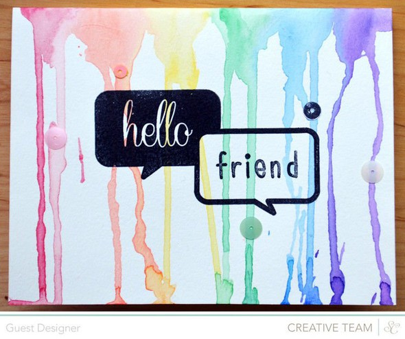 Hello friend card by paige evans