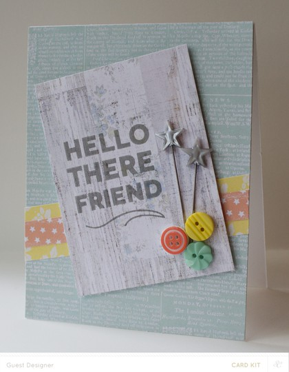 Hello there friend card