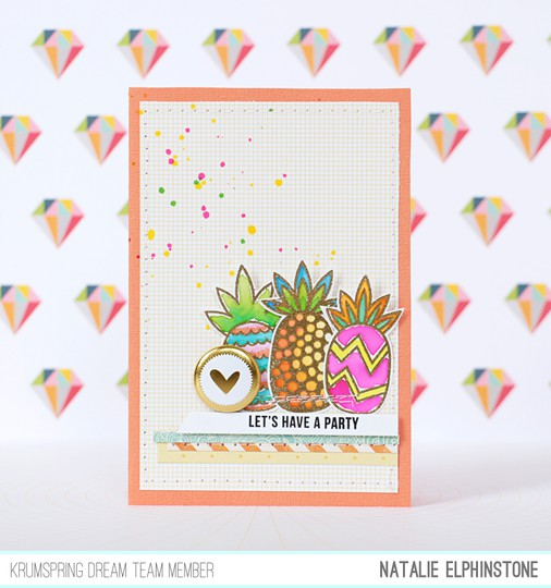 Pineapple card by natalie elphinstone original