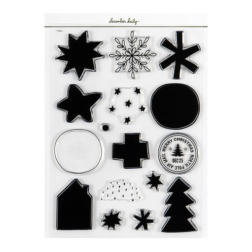 Picture of December Daily® 2021 Holiday Icon 6x8 Stamp Set