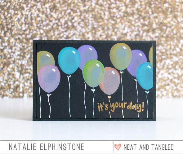 Balloon card by natalie elphinstone original