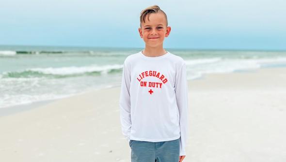 152592  lifeguard on duty long sleeve sun shirt kids white slider2 original