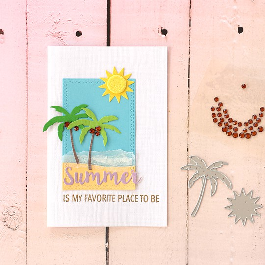 Hello summer card by natalie elphinstone original