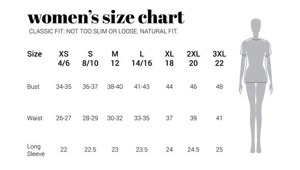 30a sizechart women naturalfit original