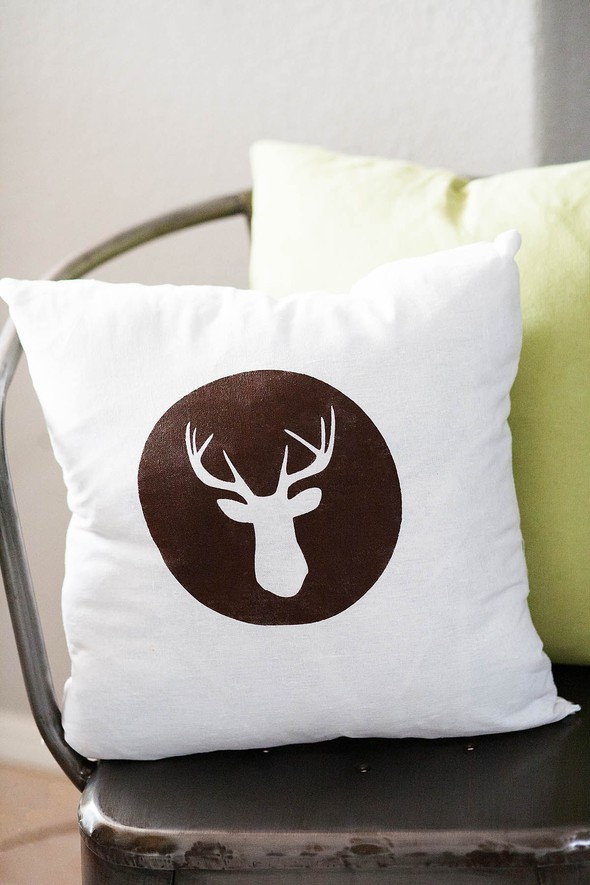 All for the memories deer head pillow