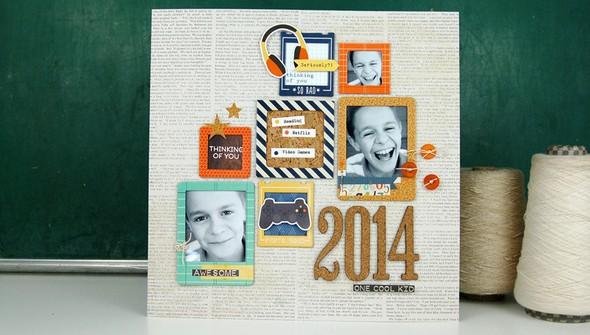 One cool kid layout by jen gallachercrop original