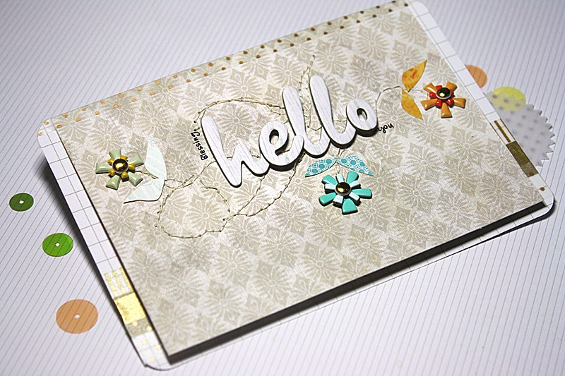 Hello flowers card