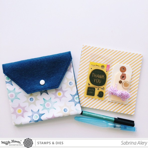 Travel craft pouch waffle flower crafts sabrina alery 1