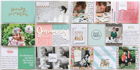 January double page by natalie elphinstone original