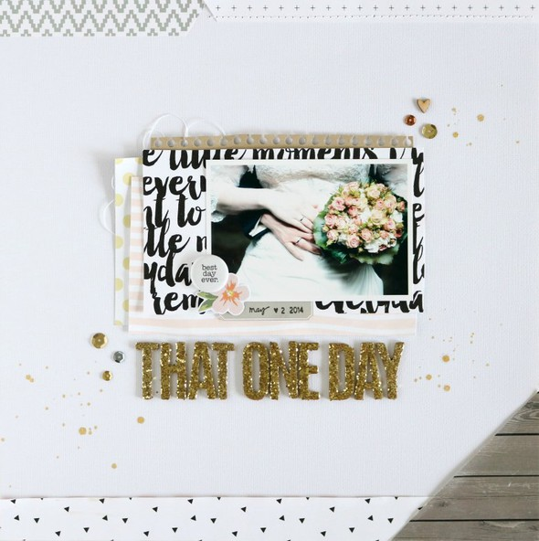 That one day scrapbooking layout original