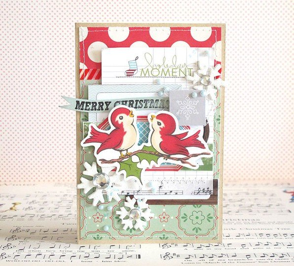 Holiday moment card