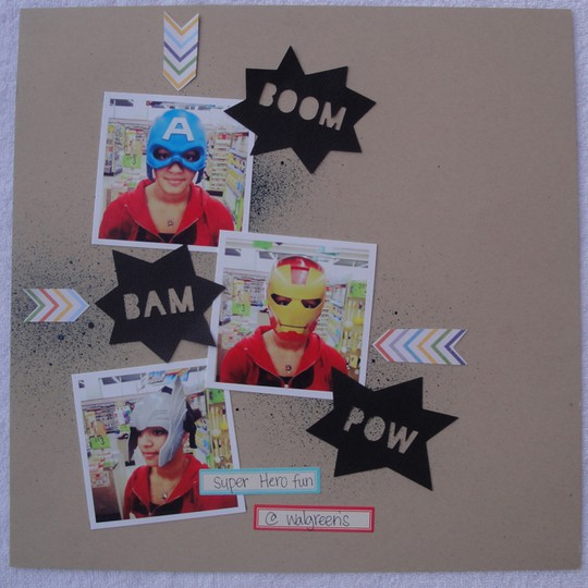Boom bam pow layout