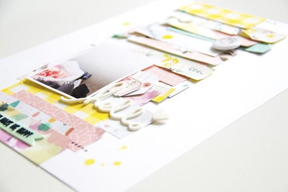 Hellohappy scatteredconfetti scrapbooking layout cratepaper americancrafts pinkfreshstudio heidiswapp 4 original