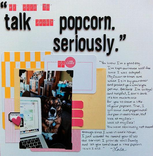 We need to talk about popcorn by jennifer larson