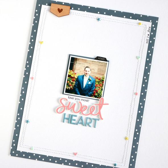 Sweetheart scrapbooking layout 4 original