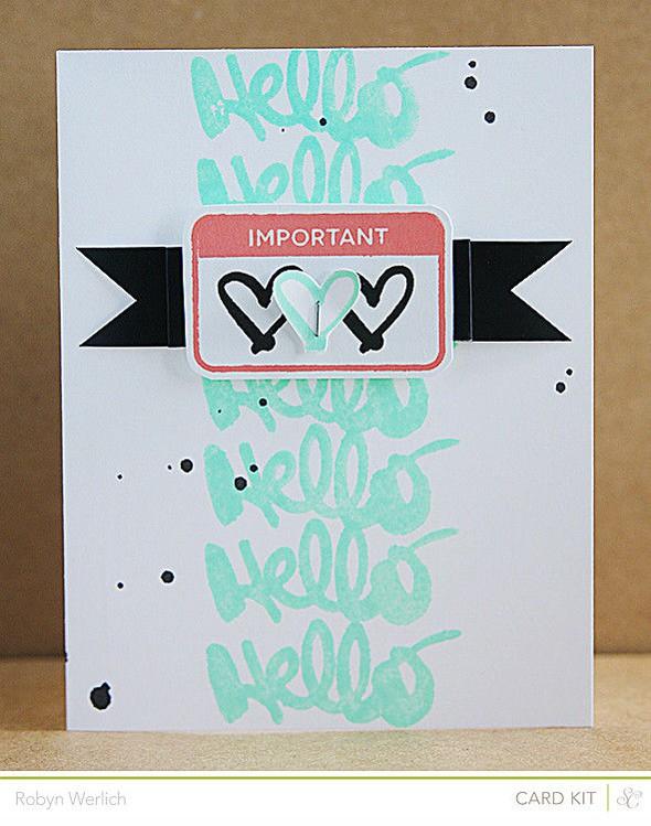 Rwerlich card neon hello