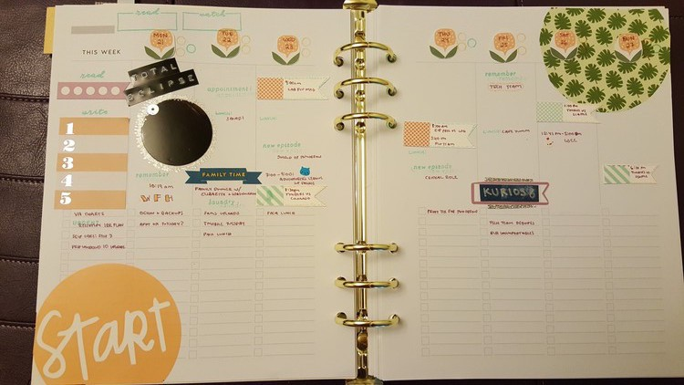 Planner august weekly original