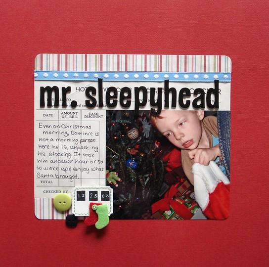 Mr sleepyhead
