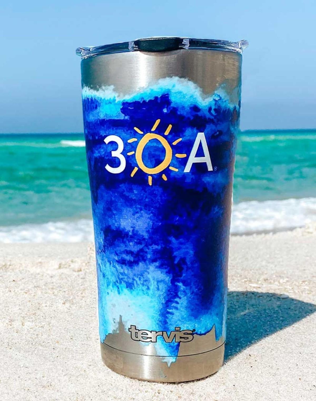 110987 bluewatercolorstainlesstervistumbler slider1