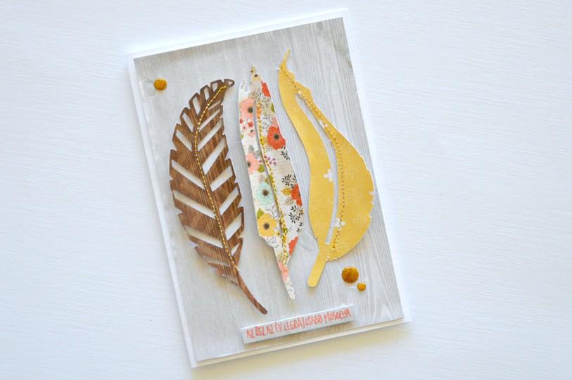 Feather card original