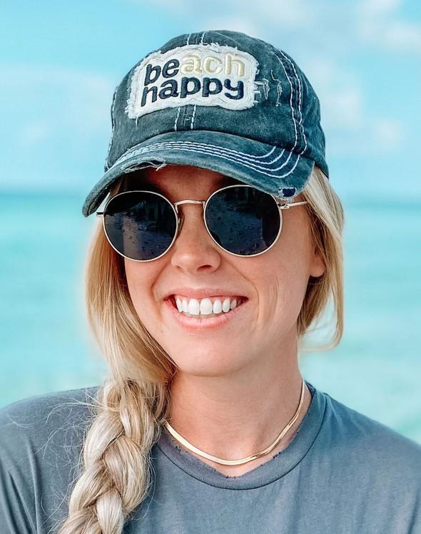 110992 beach happy hat black women slider 1 original