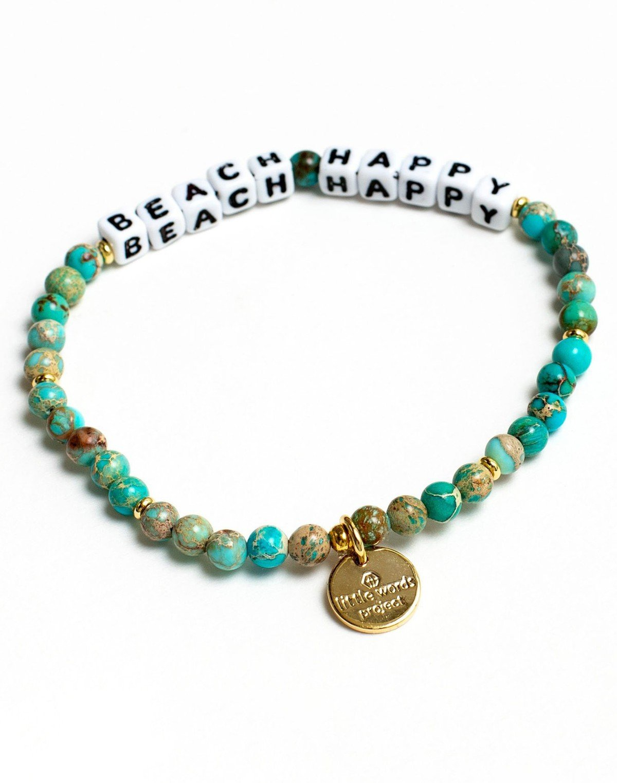 135299 beach happy little words bracelet slider 1
