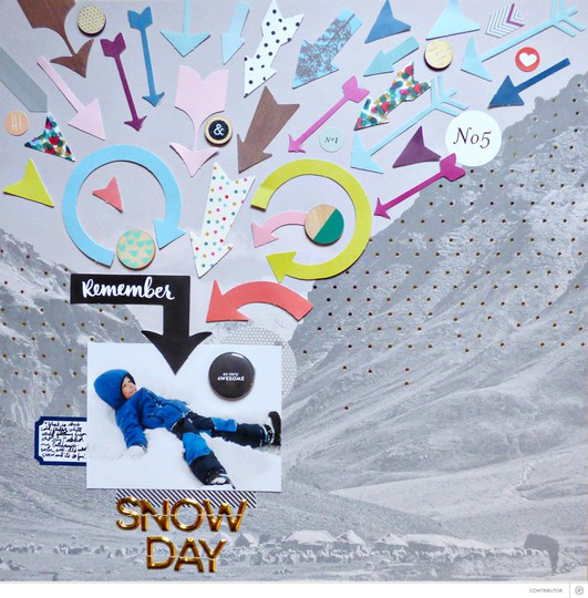 Snow day by paige evans original