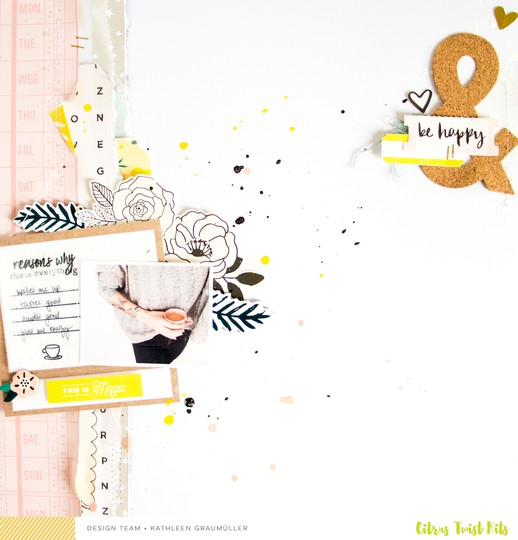 Magic scatteredconfetti scrapbooking layout cratepaper citrustwistkits sugarland 1 original