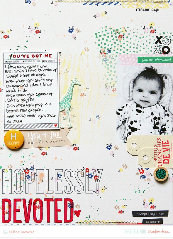 Hopeless devoted scrapbook layout by celine navarro 01 original