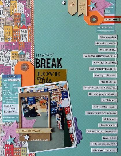 Literary break by jennifer larson
