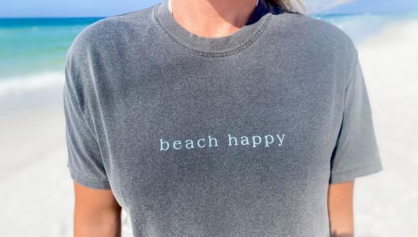 154087 simple beach happy comfort colors short sleeve tee women pepper slider2 original