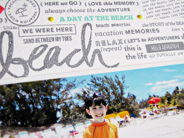 A day at the beach   e original