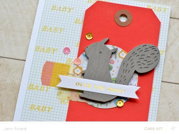 Baby card upclose
