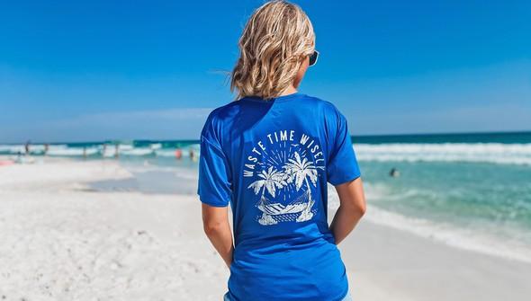 152367 waste time wisely short sleeve sun shirt women royal slider1 original