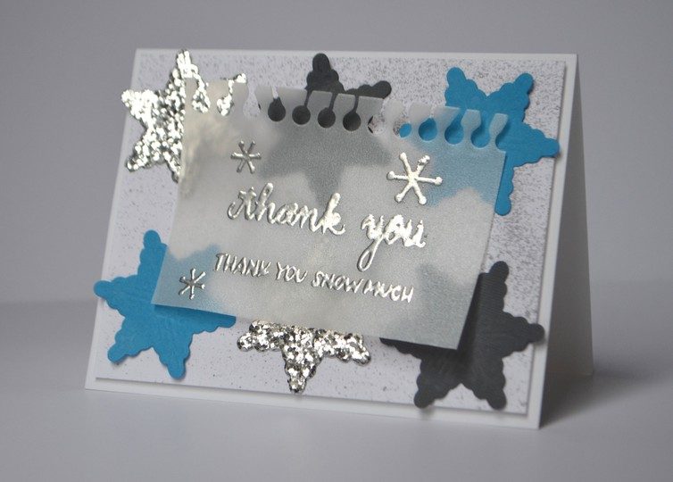 Thank you snowflake card original