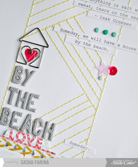 House by the beach closeup