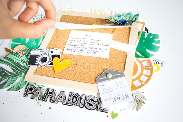 Paradise scatteredconfetti scrapbooking layout spellbinders 5 original