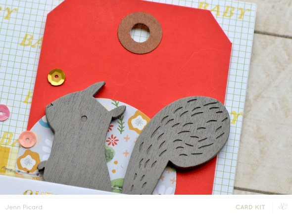 Baby card close up